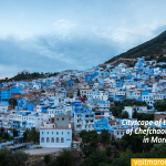 Cityscape-of-the-blue-city-of-Chefchaouen-located-in-Morocco,-Africa.