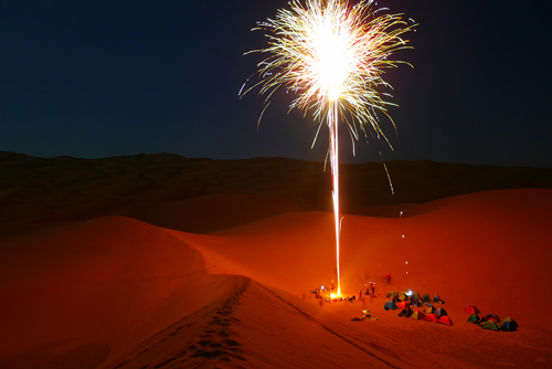 YOUR FESTIVITIES IN FULL SAND DUNES DESERT